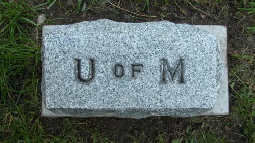 Fairview Cemetery U of M gravestone