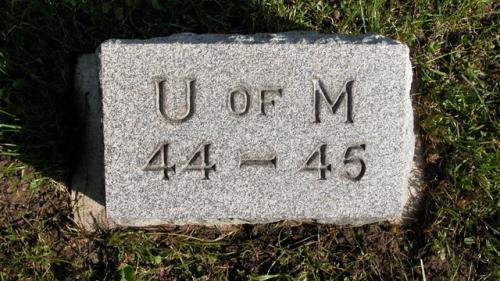 Fairview Cemetery U of M gravestone 1944-45