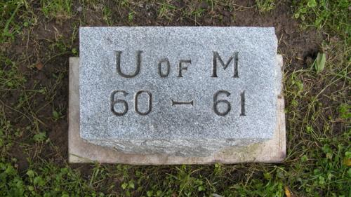 Fairview Cemetery U of M gravestone 1960-61