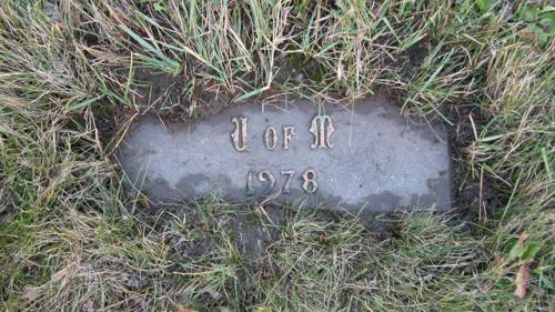 United Memorial Gardens U of M Gravestone 1978