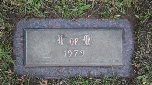 United Memorial Gardens U of M Gravestone 1979