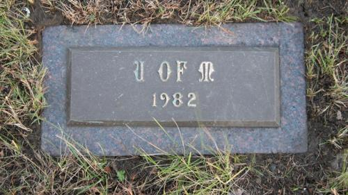 United Memorial Gardens U of M Gravestone 1982