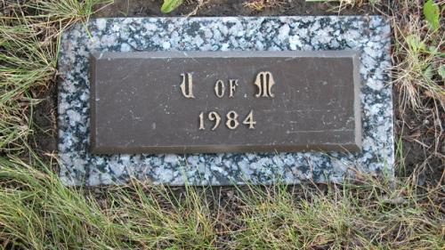 United Memorial Gardens U of M Gravestone 1984