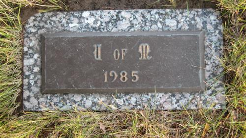 United Memorial Gardens U of M Gravestone 1985