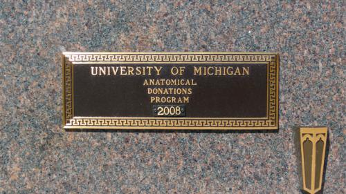 Washtenong Memorial Park U of M Plaque 1988