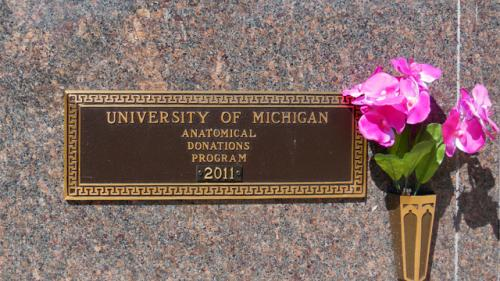 Washtenong Memorial Park U of M Plaque 2011