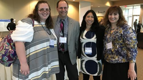 Family medicine faculty and alumnae at MI Research day