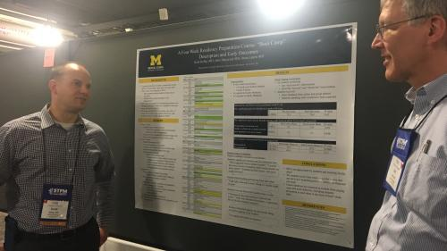 Scott Kelley and Karl Rew at STFM 2018 poster presentations