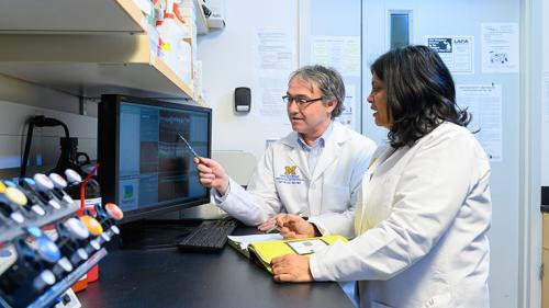 Dr. Besirli in his lab