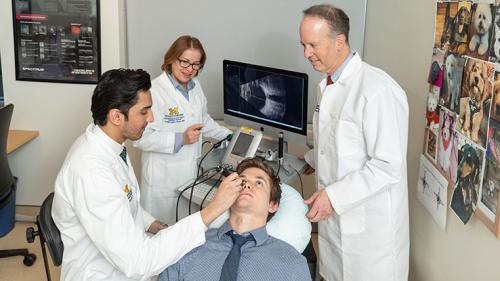 Ultrasound suite at the Kellogg Eye Center