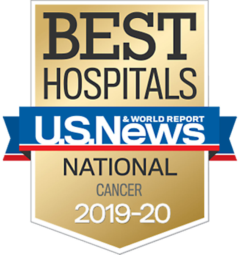 US News Best Hospital Cancer 2020 badge